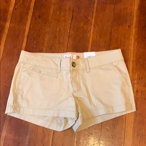 Tan shorts NWT